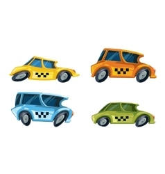 Illustration color taxi cars vector