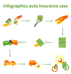 Infographics auto insurance case vector image