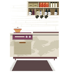 Kitchen Interior Background vector image