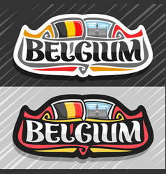 logo for belgium vector image