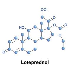 loteprednol ester corticosteroid vector image