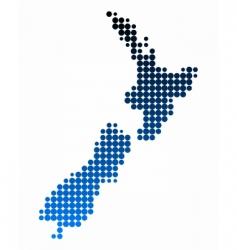 map new zealand vector image