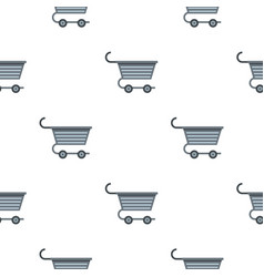 Metal trolley pattern flat vector