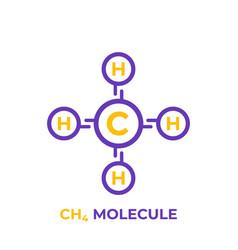 methane ch4 molecule vector image