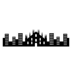 milano skyline vector image