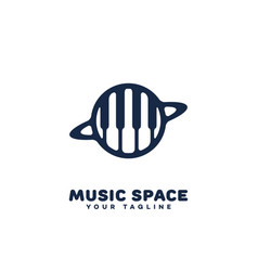 Music space logo vector