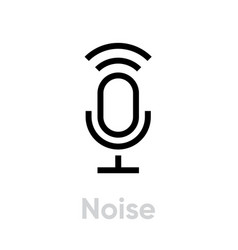 Noise microphone icon editable outline vector