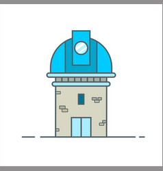 Observatory telescope for space astronomy icon vector