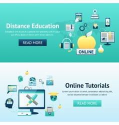 Online Education Design Concept vector
