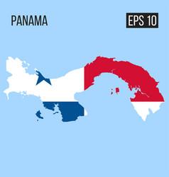 panama map border with flag eps10 vector image