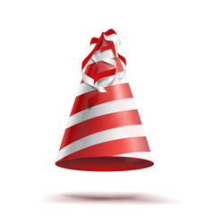 party hat classic red white striped craft vector image