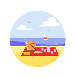 picnic on the beach vector image
