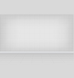 Realistic bathroom interior background vector