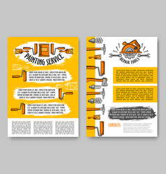 repair and paint tool poster construction design vector image
