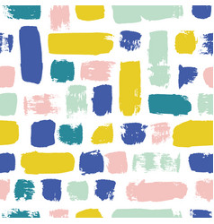 Seamless pattern colorful painted watercolor vector