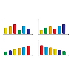 Set of color graphs vector
