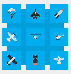 set of simple plane icons vector image