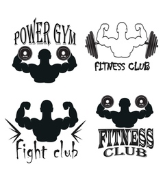 Set of vintage gym emblems vector image vector image