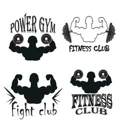 Set of vintage gym emblems vector image