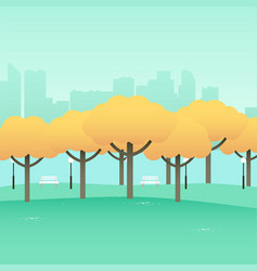 Simple graphic of city park vector