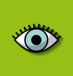 single blue eye image vector image