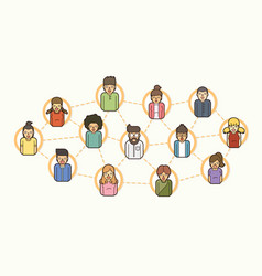 social network communication community online vector image