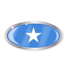 Somalia flag oval button vector