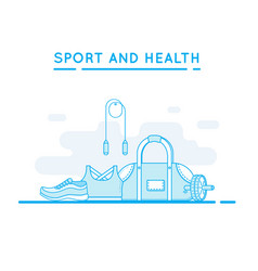 sport and fitness background vector image