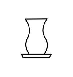 tea glass icon vector image