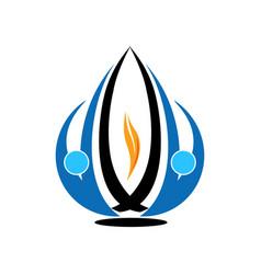 techno logo design vector image