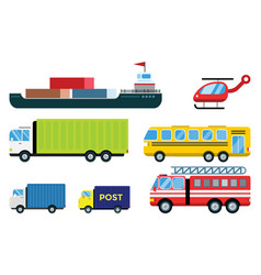 Transport delivery isolated white vector