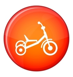 Tricycle icon flat style vector