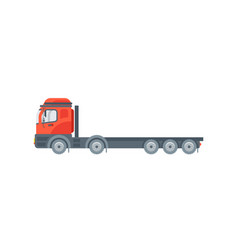 truck tractor side view in flat style vector image