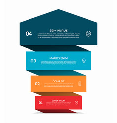 Up arrow infographic banner with 4 steps options vector
