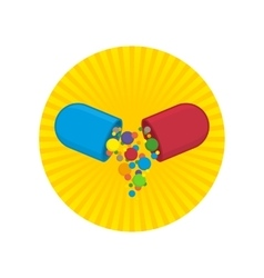 Vitamins icon vector image