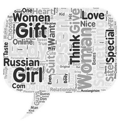 What to present to your beloved lady text vector