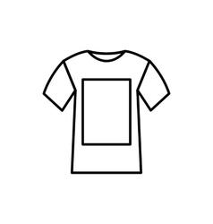 White shirt icon vector