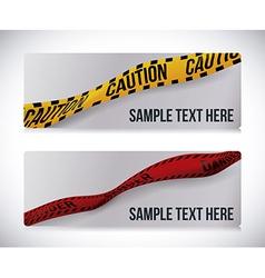 Yellow tape design vector image