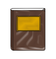 Color blurred stripe of court book with label vector
