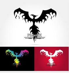 elegant phoenix logo vector image