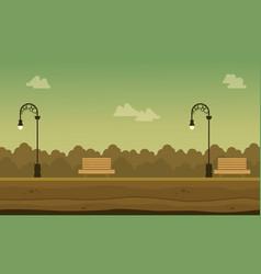 flat of garden scenery background vector image