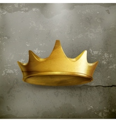 Golden crown old style vector image vector image
