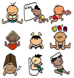Kids learning vector