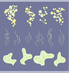 smell aroma sign set vector image