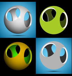 Smoothed 3d sphere with openings vector