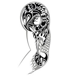 Tribal Arm Tattoo vector image vector image
