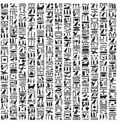 Ancient egyptian hieroglyphic writing vector