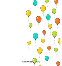 Festive card with balloons Departing spheres vector image vector image