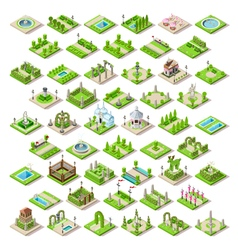 Game Set 13 Building Isometric vector image