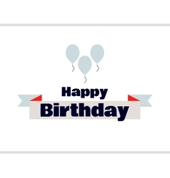 Happy Birthday Label With Balloons vector image